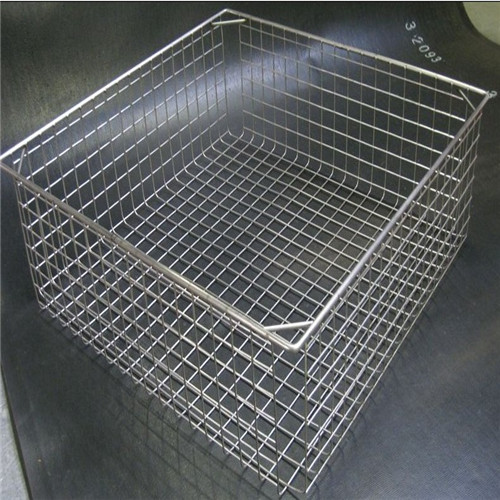 Black Metal Mesh Pen Holder Container