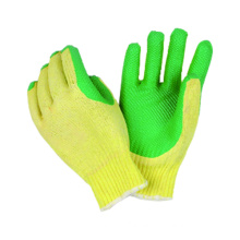 7g Knitted T/C Liner Glove with Latex Coated, Wrinkle Finished