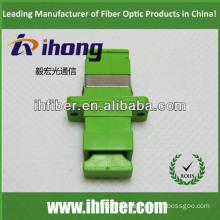 SC apc simplex fiber optic adapter, Green housing