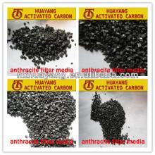 Carbón de antracita del carbón del arreglo del 70-95% para el tratamiento del agua potable / el carbón de antracita