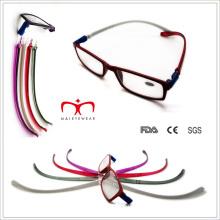 Hot Sale Tr90 accroche des lunettes de lecture au cou avec temple modifiable (WRP507260)