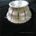 muela abrasiva de diamante soldado para dar forma a la piedra de mármol