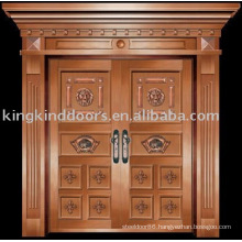 luxury copper door villa door exterior door double door KK-718