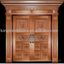 Роскошные медные двери Вилла дверь входная дверь двойная дверь KK-718