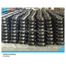 ASME 90degree Codo de tubo de acero de carbono sin soldadura