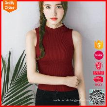 Großhandelsart und weise strickte reizvolles Frauen-Trägershirt