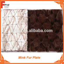 Dunkelbraune Nerz-Vorderpfote Mink Fur Plate