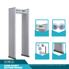 6 Zonen 20 Sicherheitsstufe Türrahmen Metalldetektor