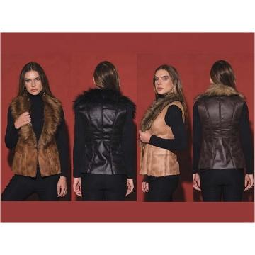 Зимний теплый модный женский жилет из искусственного меха