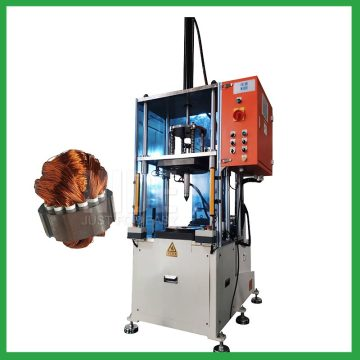Automatic electric fan motor stator coil forming machines