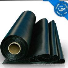 Folha de borracha impermeável da espessura EPDM de 1.2mm para o telhado / telhado de plantio / porão / Underlayment com ISO