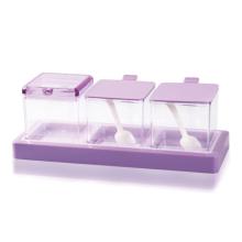 Purple Plastic Kitchen Seasoning Jar