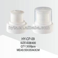 28 / 400,28 / 415 tampão de garrafa de água de plástico push pull
