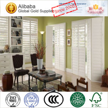 Double Panel 63.5MM Louver L Frame French Doors Window Plantation Shutters