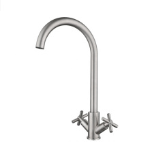 YL90011 High quality chrome mixer tap faucet, double handle kitchen mixer, 304 stainless steel kitchen faucet