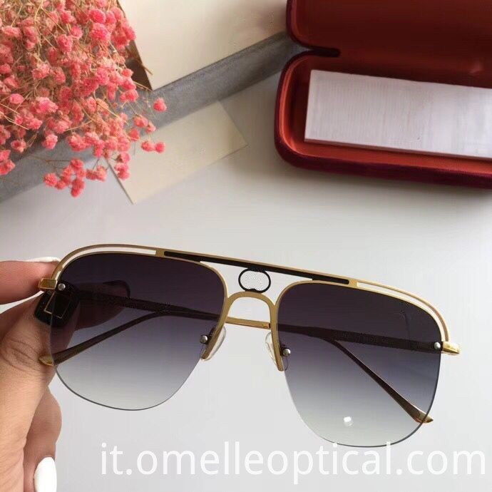 Semi Rimless Sunglasses