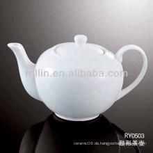 Gesunder, langlebiger weißer Porzellan-Ofen sicherer Wasserkrug mit Deckel