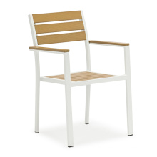 Wholesale aluminium PS wood plastic wood outdoor garden chair outdoor furniture chairs