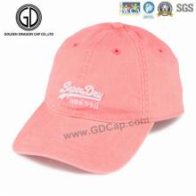 Großhandelsqualitäts-Baumwoll-Golf-Baseballmütze 100% Baumwolle 6 mit Stickerei-Logo