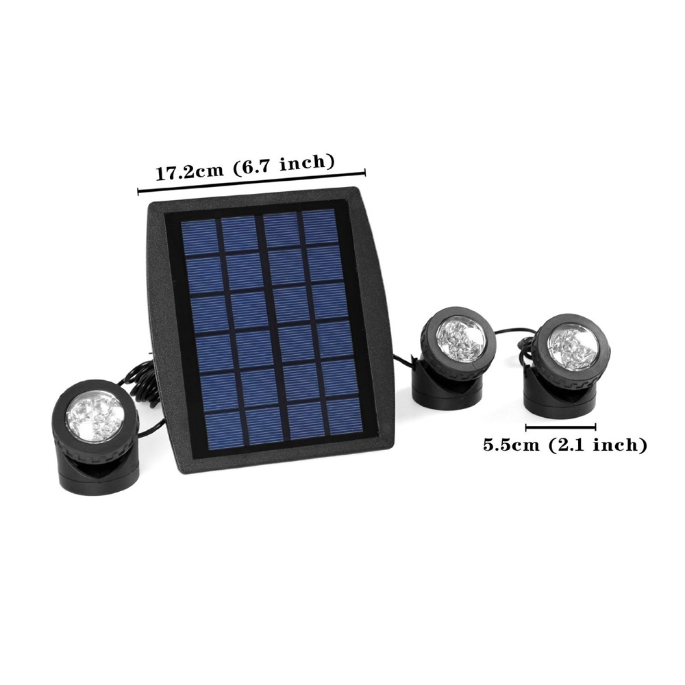 Solar Powered Underwater LED Light