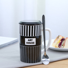 Creative Stripe Porcelain Mug