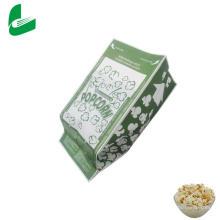 Белые крафт-жиронепроницаемые микроволновые бумажные пакеты для попкорна