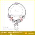 Hot Selling Charm Bangle Bracelet Glass Beads Round Bracelet Charms Bell Snake Chain