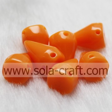 Opaque Plastic Rivet Bead with Two Holes for Accessories Bracelet, Bangle and Necklace
