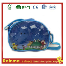 Transparent PVC Shoulder Bag for Boy