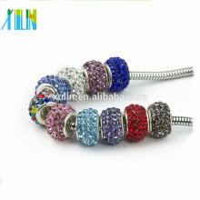 DIY charms Crystal Rondelle polymer clay Big Hole DIY European Beads