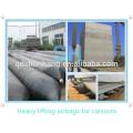 Corda de amarração com airbags de borracha infláveis para o levantamento do navio