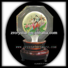 belle boule de cristal k9 K046