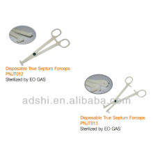 2015 hotsale ADShi EO Gas sterilized body piercing disposable true septum forceps piercing tools