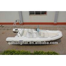 Fibre de verre de rib580 de CE bateau gonflable pvc ou hypalon