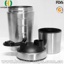 Nueva botella material popular de la coctelera de la proteína del acero inoxidable (HDP-0598)