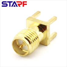 STA Reverse Straight RPSMA Female male PIN Through Hole PCB Mount connector