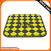 Black & Yellow Durable Pedestrian Rubber Cushion
