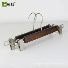 груша никель фитинги ручная щетка отделка деревянная вешалка для брюк