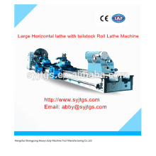 Large Horizontal lathe machine with tailstock Roll Lathe Machine Price for hot sale in stock