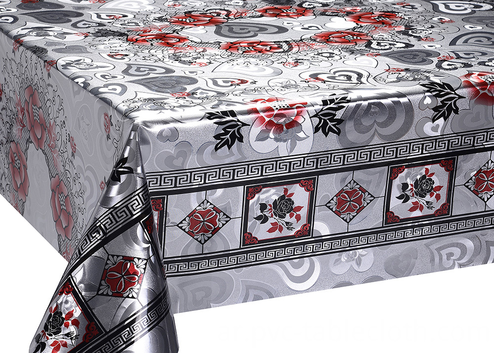 Double Face Gold Silver Tablecloth