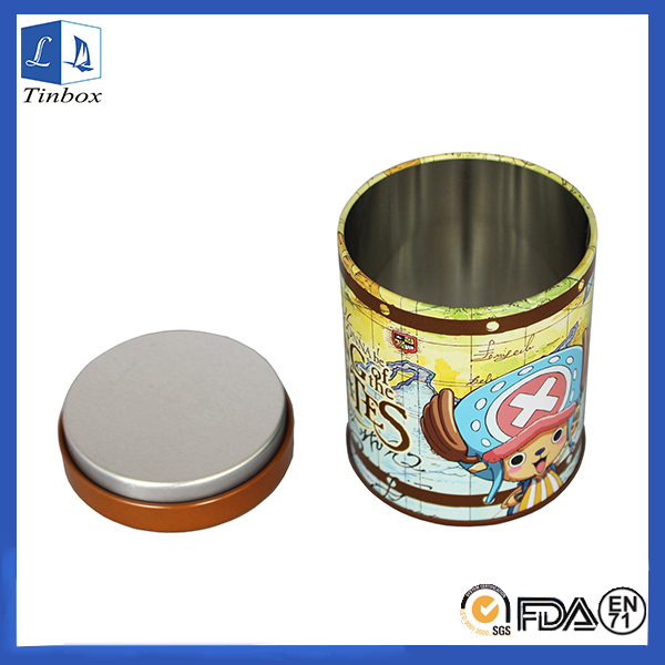 Round Metal Tin Containers With Inner Lid