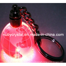 Crystal Globe Keychain with LED Light for Promotion (kc15)