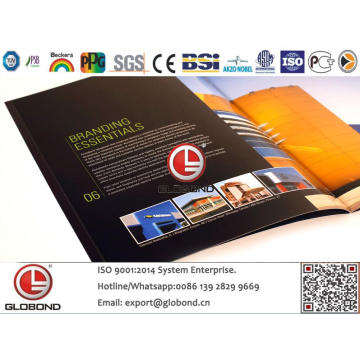 Globond Plus PVDF panneau composite en aluminium (PF123)