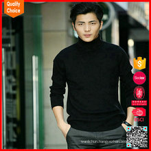 Hot selling long sleeve 100%Cotton sweater mens turtleneck