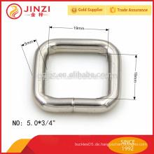 19mm breite quadratische Wölbung, quadratisches Eisenringzusatz für Beutel