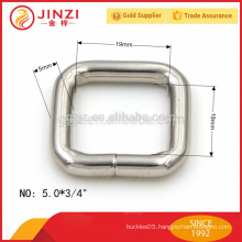 19mm wide square buckle, square iron ring accessories for bags
