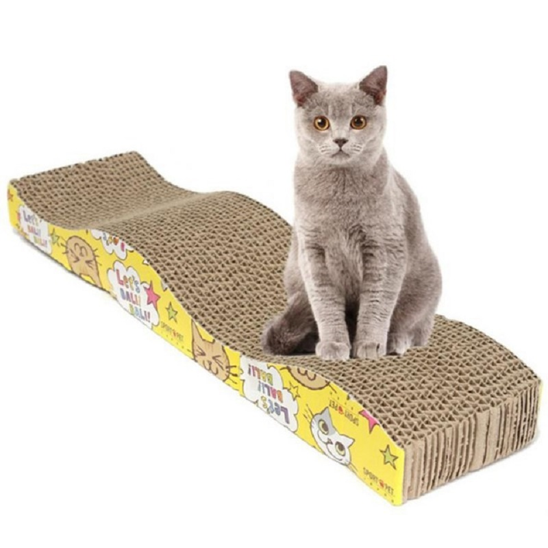 Cat-Kitten-Paper-Cardboard-Corrugated-Scratch-Board-Pad-Scratcher-Bed-Mat-Claws-Care-cat-toys-JX