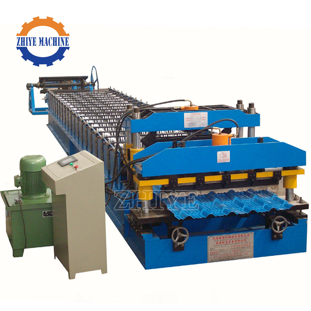 Fully Automatic Glazed Steel Tile Machine PPGI Zhiye