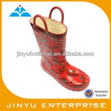 Girls shiny boots gum