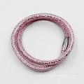 Usine en gros en cuir véritable Bracelet avec fermoir en acier inoxydable à aimant